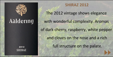 The 2012 vintage shows elegance with wonderful complexity. Aromas of dark cherry, raspberry, white pepper and cloves on the nose and a rich, full structure on the palate.