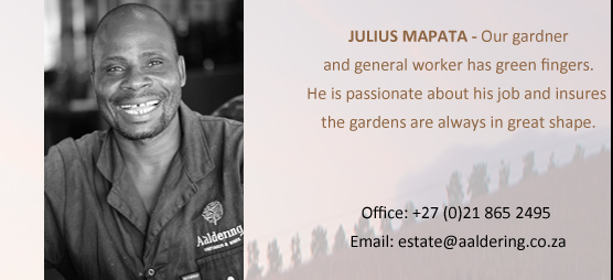 JULIUS MAPATA - General worker and Gardner. Julius perfoms various duties on and around the farm.